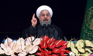 רוחאני הודיע על נסיגה מההסכם לפני כחודש (צילום: AP, חדשות)