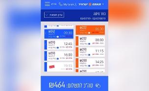 הישראלים שמרכיבים חבילות טיסה (צילום: צילום מסך, חדשות)