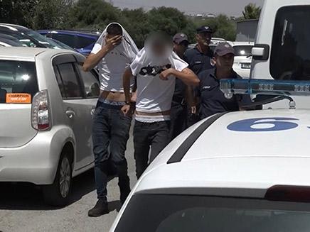 החשודים באונס הקבוצתי בקפריסין (צילום: החדשות)