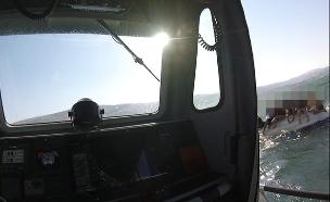 חילוץ הצעירים בכנרת (צילום: דוברות המשטרה, חדשות)