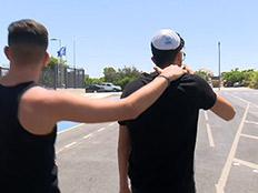 שחרור החשודים באונס בקפריסין (צילום: החדשות)