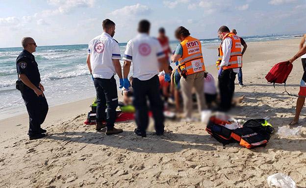 מותה נקבע במקום (צילום: איחוד והצלה, חדשות)