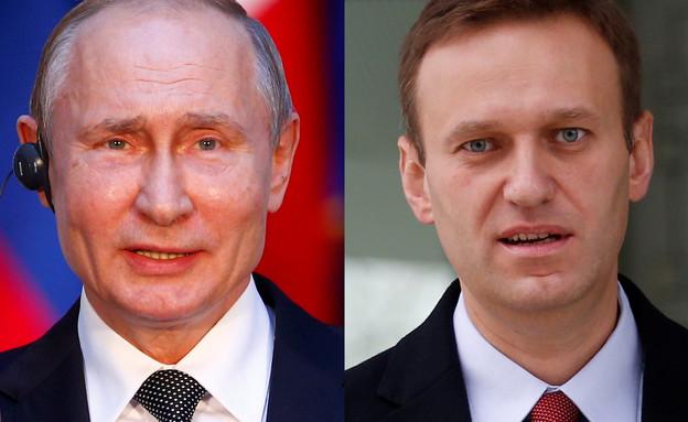 ולדימיר פוטין ואלכסיי נבלני (צילום: רויטרס)