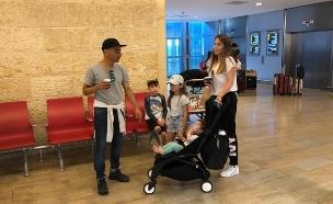 מריאנו אידלמן והמשפחה בדרך לחופשה, יולי 2019 (צילום: צילום פרטי)