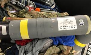 הטיל שנתפס (צילום: TSAmedia_LisaF@Twitter)