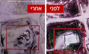 """תוצאות התקיפה ה""""מסתורית"""" בעירק שיוחסה לישראל (עיבוד: אינטלי טיימס באמצעות Intel Aurora / דיגיטל גלוב)"""