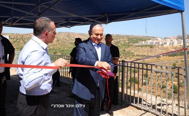 ראש הממשלה, בנימין נתניהו ,חנך היום טיילת באפרת (צילום: איגור אוסדצ׳י)