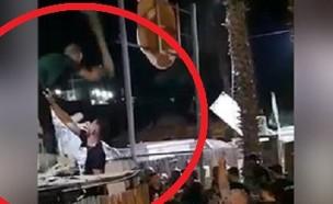 אלימות במועדון בטבריה (צילום: צילום פרטי)