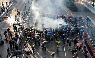 מחאות בהונג קונג (צילום: רויטרס)