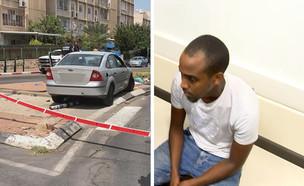 שי טסמה, הנהג החשוד בתאונה בקריית גת (צילום: דוברות המשטרה)