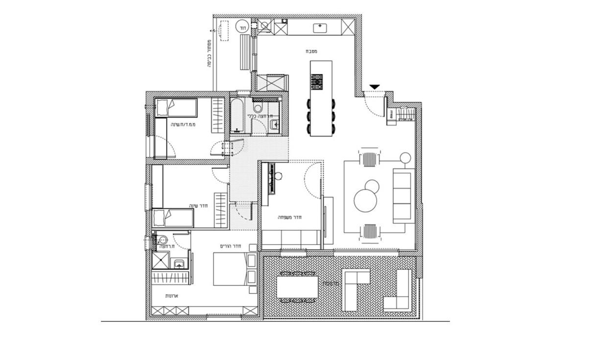 דירה בגני תקווה, עיצוב טוביה פנפיל, תוכנית חדשה