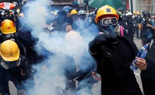 מחאה בהונג קונג (צילום: רויטרס)