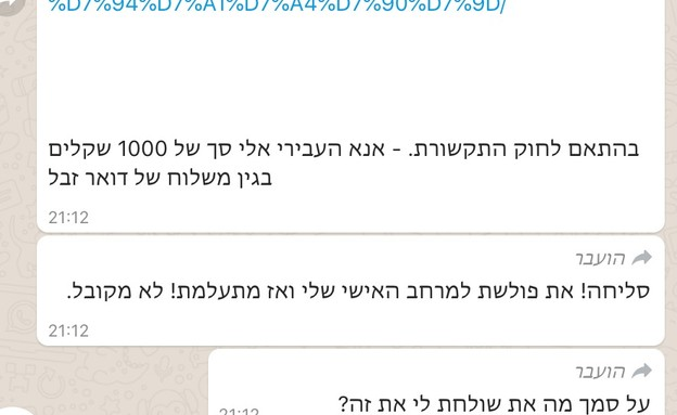 הודעות סחיטה על דואר ספאם מעורכי דין (צילום: חדשות 12)
