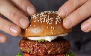 ברגר קינג משיקה: המבורגר ללא בשר (צילום: קשת 12)