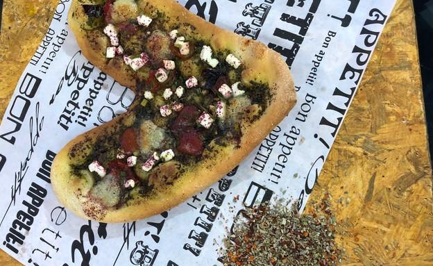 פיצה ארטישוק שדרות  (צילום: ריטה גולדשטיין, אוכל טוב)