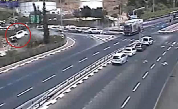 תאונה קשה באזור נצרת (צילום: נתיבי ישראל)