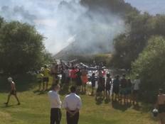תנועת הקייאקים בנהר הירדן הופסקה בעקבות שרפה