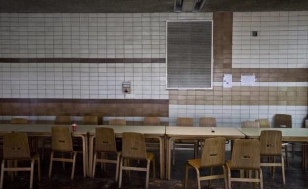 חדר האוכל הריק בקיבוץ גבעת חיים מאוחד (צילום: תומר אפלבאום, The Marker)