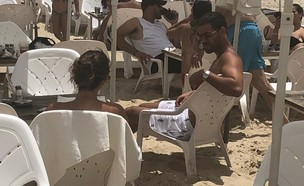 עומרי בן נתן בים, אוגוסט 2019 (צילום: צילום פרטי)