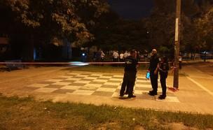 ירי בגינה ציבורית ברמלה (צילום: דוברות המשטרה)