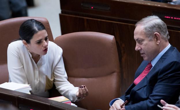 ראש הממשלה בנימין נתניהו ואיילת שקד (צילום: פלאש 90)