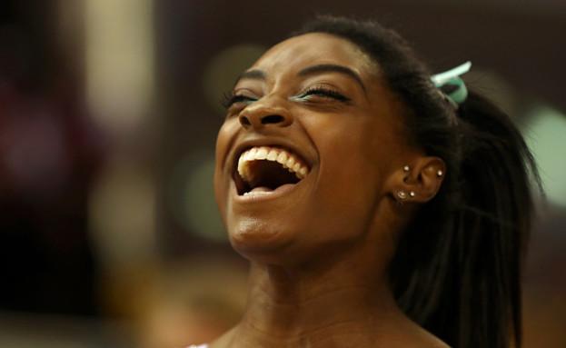 סימון ביילס - מתחרה באולימפיאדה (צילום: Francois Nel/Getty Images)