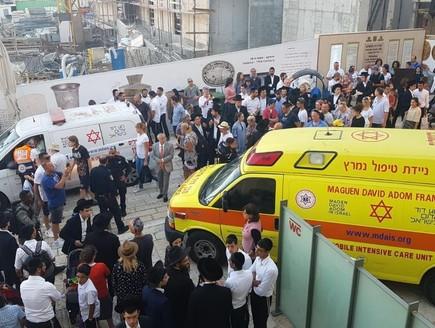 הזירה בעיר העתיקה לאחר אירוע הדקירה (צילום: תיעוד מבצעי מד