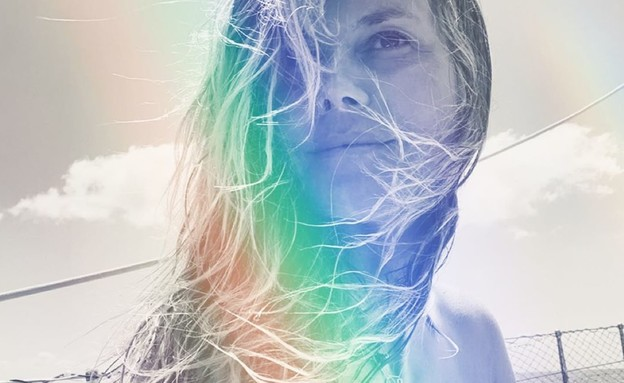 היידי קלום בעירום אמנותי (צילום: heidi klum)