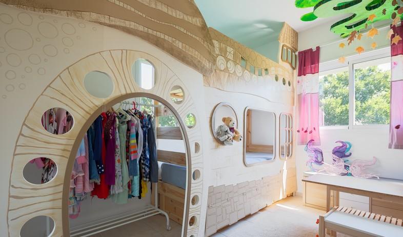 חדר ילדים, עיצוב אלכסנדרה גולדשטיין (צילום: שרון צרפתי)