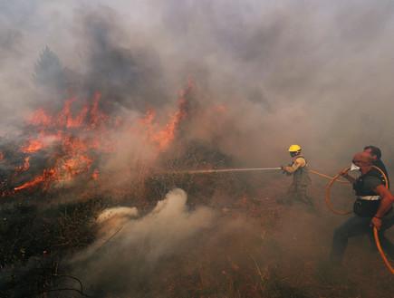 שרפת חורש בפורטוגל בעקבות עומסי החום