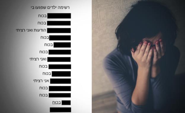 הרשימה שהציגה בת ה-11 שנאנסה