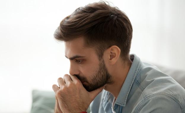 גבר עצוב (צילום:  none, Shutterstock)