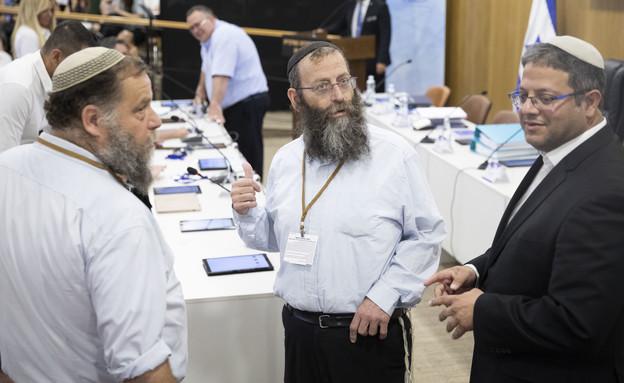 איתמר בן גביר, ברוך מרזל ובנצי גופשטיין (צילום: הדס פרוש, פלאש 90)