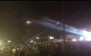שיגור רקטות מעזה לשדרות (וידאו AVI: אלינור אוחיון)