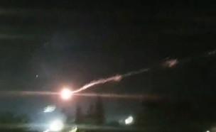 יירוט רקטות מעל שדרות (צילום: חדשות מבזקי רעם בטלגרם)