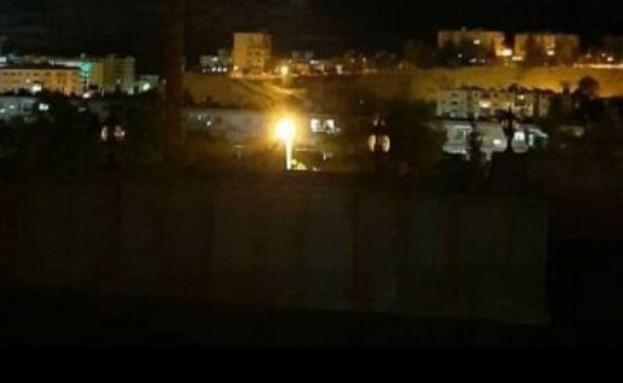 """תקיפת צה""""ל באזור דמשק (צילום: Organization Of Syrian Arab Radio and TV)"""