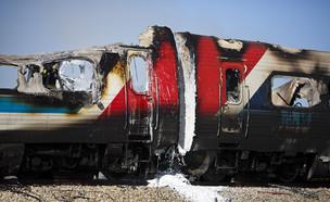 שריפה ברכבת ליד יקום, 2010 (צילום: איליה יפימוביץ', פלאש 90)