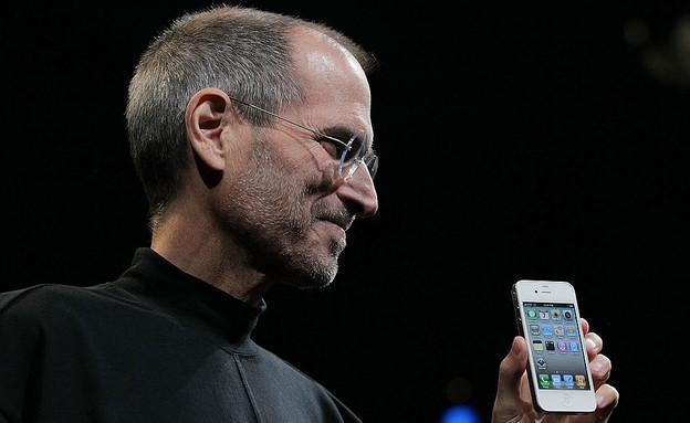 סטיב ג'ובס מייסד אפל (צילום: Justin Sullivan - Staff, GettyImages)