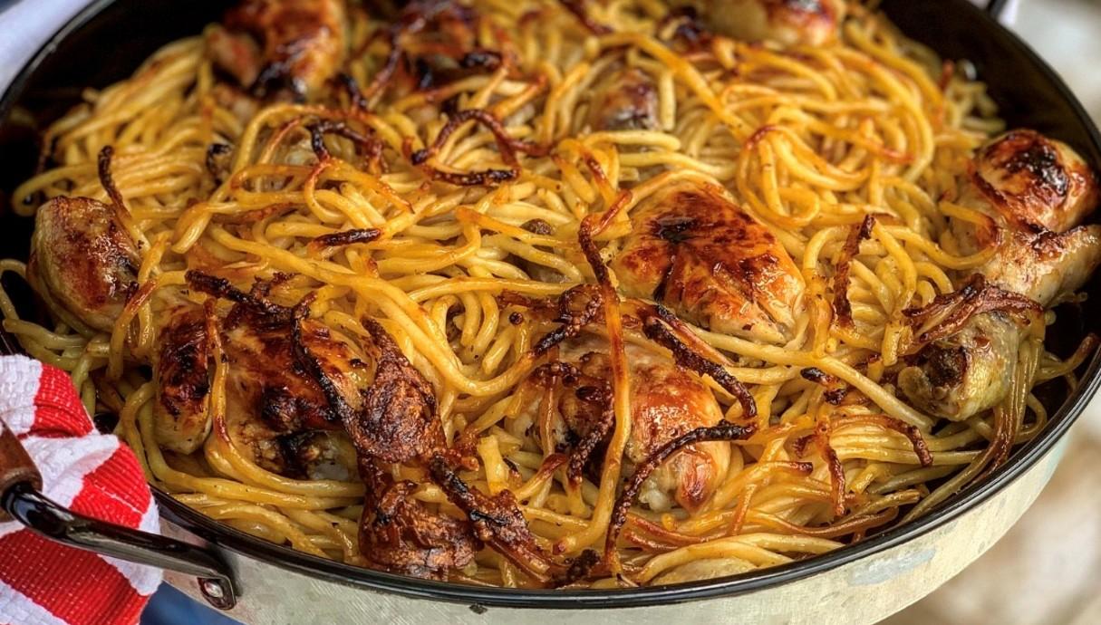 עוף וספגטי בסיר אחד (צילום: רעות עזר, אוכל טוב)