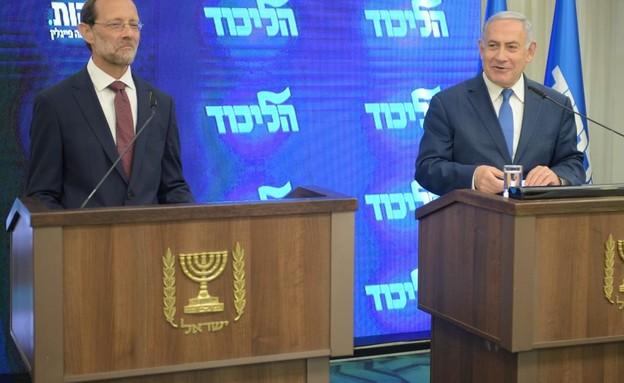 ראש הממשלה נתניהו עם משה פייגלין (צילום: קובי ריכטר, TPS)
