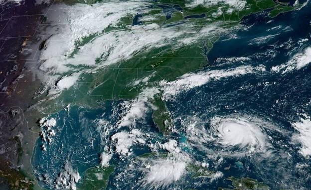 """הוריקן דוריאן בארה""""ב (צילום: sky news, skynews)"""