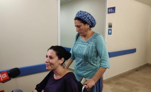 נעם נביס משוחררת מבית החולים (צילום: דוברות הדסה)