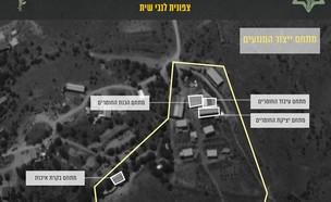 """אתר המיועד לייצור והסבת טילים מדויקים (צילום: דובר צה""""ל)"""