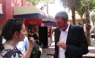 מפגש בין השר פרץ להורים השובתים בגבעת שמואל (צילום: חדשות)
