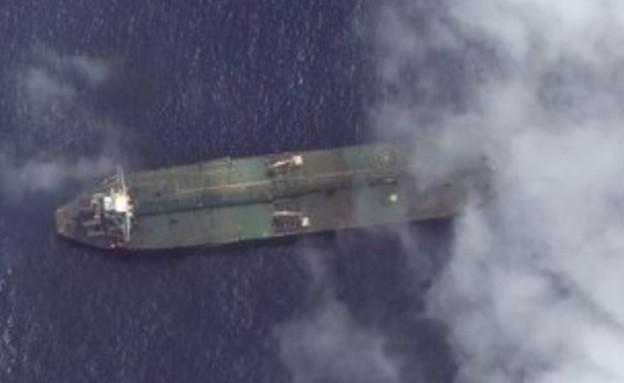 מכלית הנפט האיראנית בקרבת טרטוס (צילום: Christine and Steve Tan, ללא)