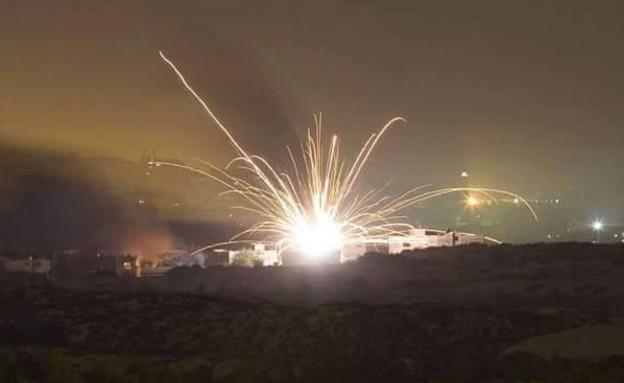 תקיפה בסוריה, ארכיון (צילום: רונן סולומון, מודיעין חדשותי)