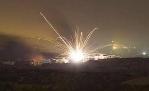 תקיפה בצפון סוריה  (צילום: רונן סולומון, מודיעין חדשותי)