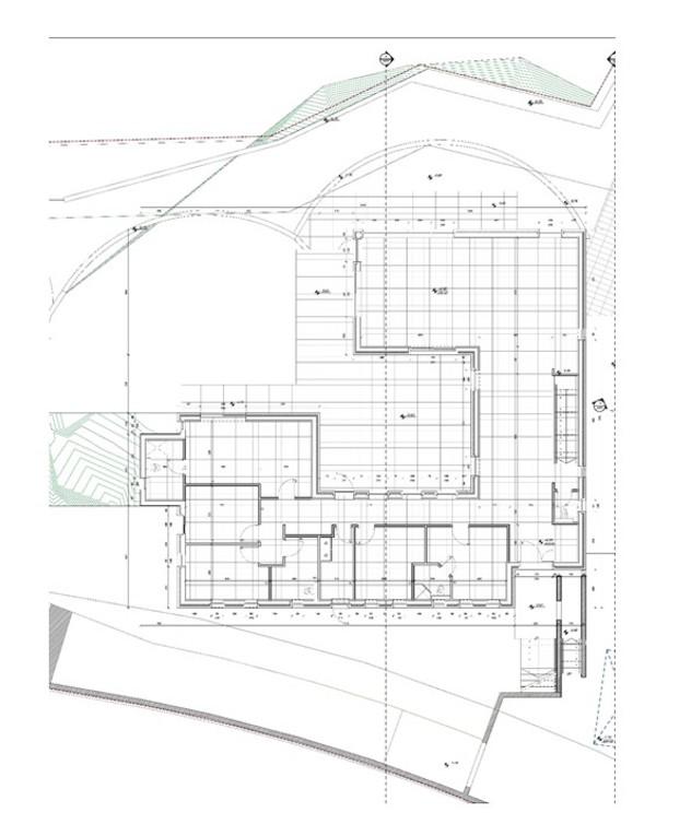 בית במושב, עיצוב מרב שדה, תוכנית אדריכלית קומת קרקע