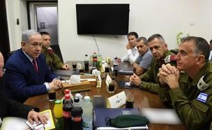 נתניהו בהתייעצות ביטחונית בקריה  (צילום: אריאל חרמוני, משרד הביטחון)