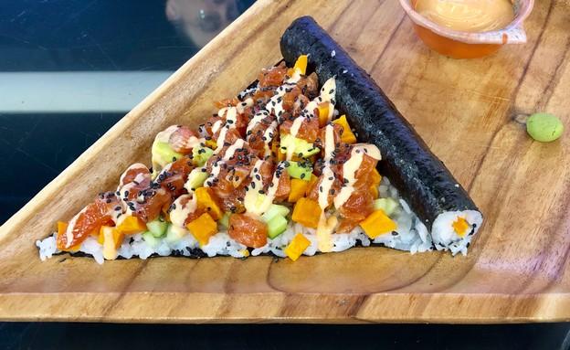 סושינא סושי פיצה (צילום: ריטה גולדשטיין, אוכל טוב)